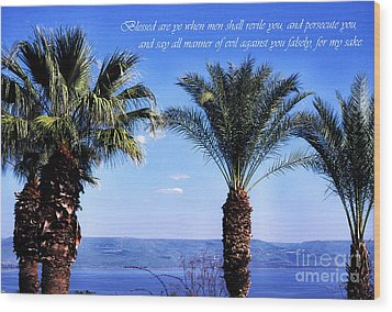 Mount Of The Beatitudes Wood Print by Thomas R Fletcher