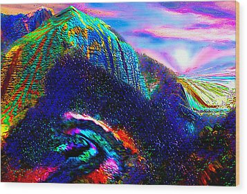 Mount Of Visionaries V.14 Enhanced Wood Print by Rebecca Phillips