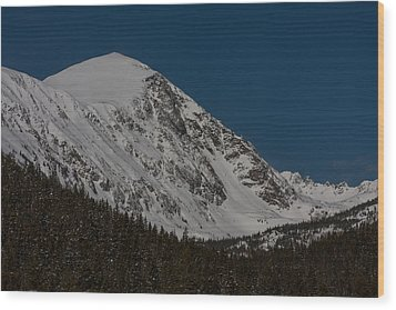 Quandary Peak Wood Print by Peter Skiba