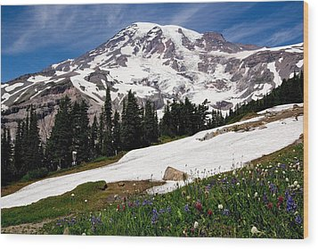 Mount Rainier From Paradise Wood Print