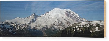 Wood Print featuring the photograph Mount Rainier From Sunrise by Bob Noble Photography