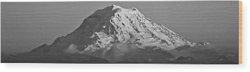 Mount Rainier Landscape Wood Print
