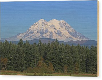 Wood Print featuring the photograph Mount Rainier Washington by Tom Janca