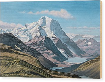 Mount Robson From The Air    Wood Print by Paul Krapf