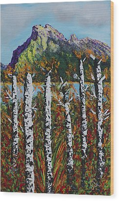 Mount Rundle Banff Alberta Wood Print by Joyce Sherwin