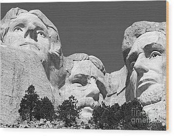 Mount Rushmore Wood Print by Alex Cassels