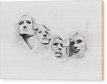 Mount Rushmore Wood Print by Astrid Rieger