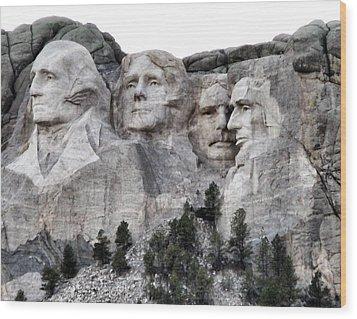 Mount Rushmore National Memorial Wood Print by Patricia Januszkiewicz