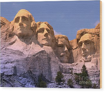 Mount Rushmore Wood Print by Olivier Le Queinec