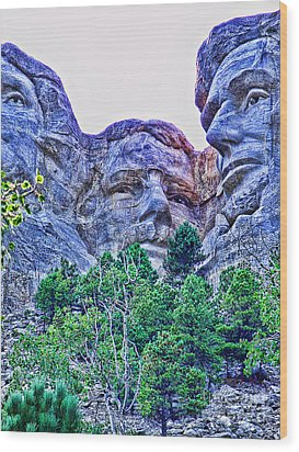 Mount Rushmore Roosevelt Wood Print by Tommy Anderson