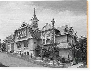 Mount Saint Mary College Whittaker Hall Wood Print by University Icons