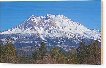 Mount Shasta California February 2013 Wood Print by Michael Rogers
