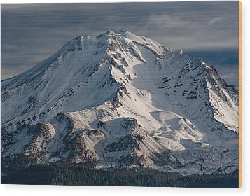 Mount Shasta Close-up Wood Print by Greg Nyquist