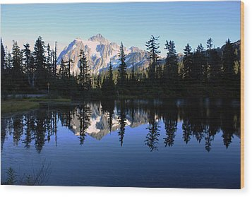 Mount Shuksan Wood Print
