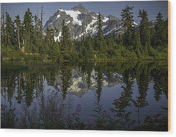 Mount Shuksan Wood Print by Jean-Jacques Thebault