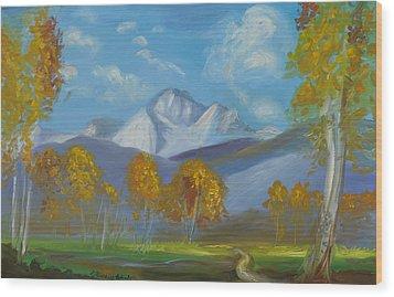 Mount Sneffels San Juan Mountains Colorado Wood Print by Patricia Kimsey Bollinger