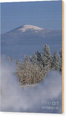 Mount Spokane Wood Print by Sharon Elliott
