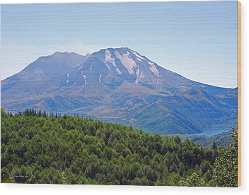 Mount St. Helens And Castle Lake In August Wood Print