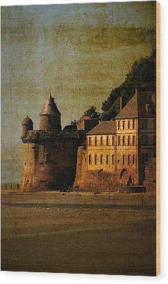 Mount St Michael's Tower Wood Print