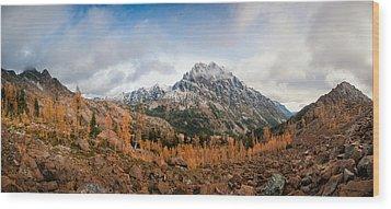 Wood Print featuring the photograph Mount Stuart Panorama by Brian Bonham