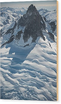 Mount T Wood Print by Roger Clifford