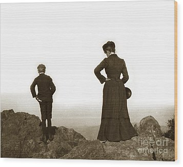 Wood Print featuring the photograph Mount Tamalpais Marin County California Circa 1902 by California Views Mr Pat Hathaway Archives