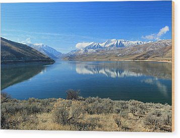 Mount Timpanogos From Deer Creek Wood Print by Johnny Adolphson