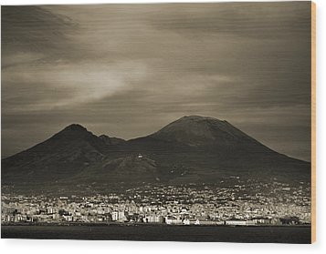 Mount Vesuvius 2012 Ad Wood Print by Terence Davis