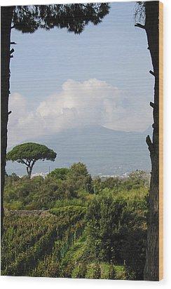 Mount Vesuvius Wood Print by Adam Romanowicz