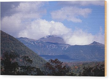 Mount Washington Wood Print by Skip Willits