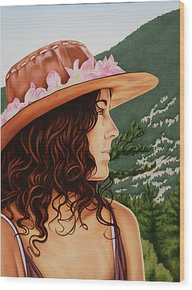 Mountain Beauty Wood Print by Charles Luna