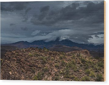 Mountain Blanket Wood Print by Bill Cantey