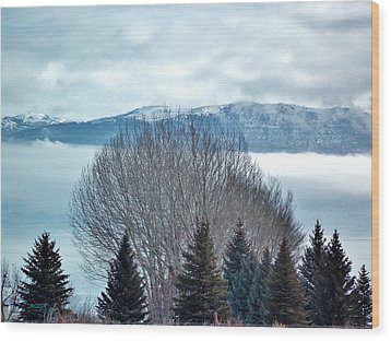 Mountain Cloud Wood Print