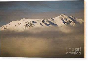 Mountain Cloud Wood Print by Tim Hester