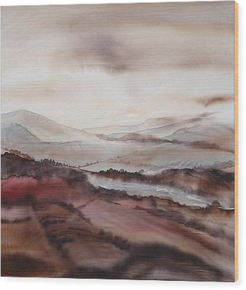 Mountain Dawn Wood Print