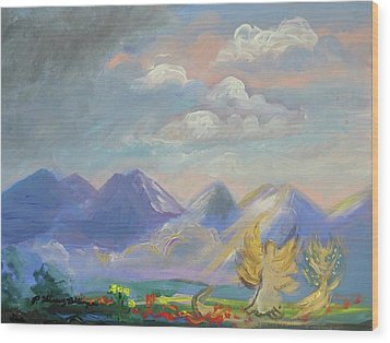 Mountain Dream Wood Print by Patricia Kimsey Bollinger