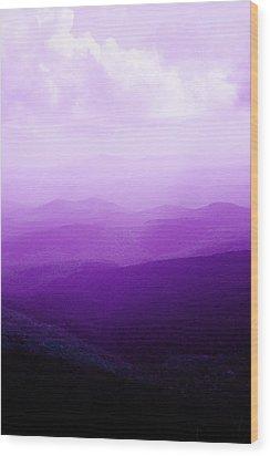 Mountain Dreams Wood Print by Kim Fearheiley