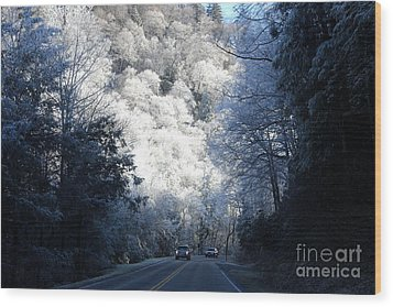 Mountain Drive Wood Print