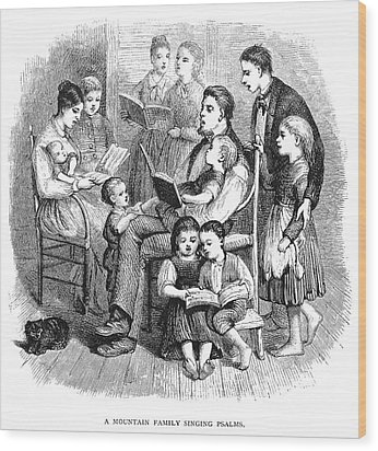 Mountain Family, 1874 Wood Print by Granger