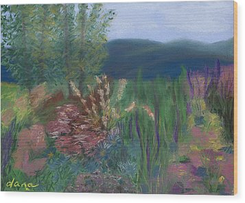 Mountain Garden Wood Print by Dana Strotheide