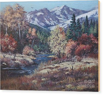 Mountain Glory Wood Print by W  Scott Fenton