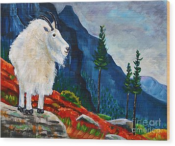 Mountain Goat Country Wood Print by Harriet Peck Taylor