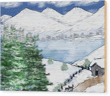 Mountain High Wood Print by Mary M Collins