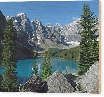 Wood Print featuring the photograph Mountain Magic by Alan Socolik