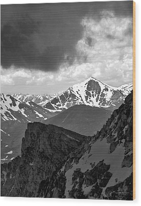 Mountain Majesty Wood Print by Julie Magers Soulen