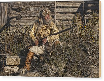 Mountain Man Wood Print