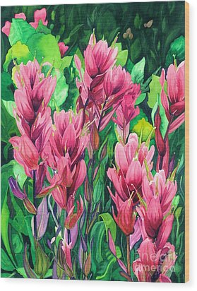 Mountain Meadows' Paintbrush Wood Print by Barbara Jewell