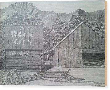 Mountain Memories Wood Print by Tony Clark