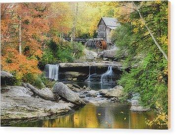 Mountain Mill Wood Print