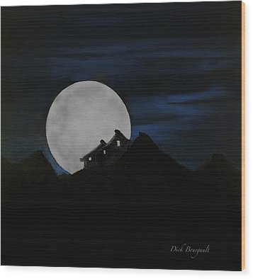 Mountain Monastery Wood Print by Dick Bourgault
